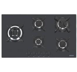 Cooktop a Gás Tramontina em Vidro Temperado Preto com Acendimento Automático 5 Queimadores - Penta Side Plus 5GG TRI 90