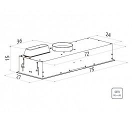 Coifa de Embutir Tramontina Incasso 75 Split em Aço Inox 75 cm 220 V