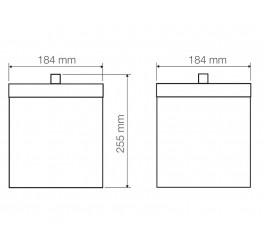 Lixeira em aço inox acabamento polido 4,5L - Luz