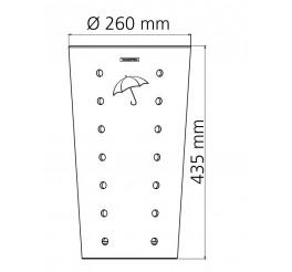 Porta guarda-chuva em aço inox 20L - Konika Dry