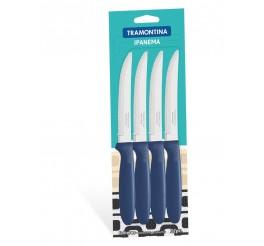 Conjunto de facas para churrasco 12 peças - Cor Azul