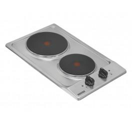 Cooktop Elétrico Tramontina em Aço Inox com 2 Placas Térmicas em Ferro Fundido - Domino 2ER 30