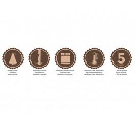 Conjunto colheres de mesa 6 peças - Polywood - Cor Marrom