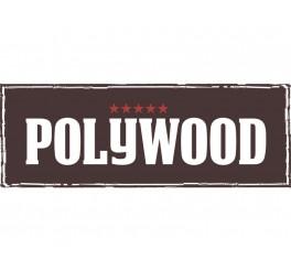 Display garfos jumbo 48 peças - Polywood - castanho