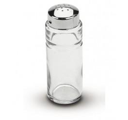 Saleiro/pimenteiro de vidro com tampa de aço inox - Utility