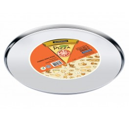 Forma para pizza aço inox 30cm - Service
