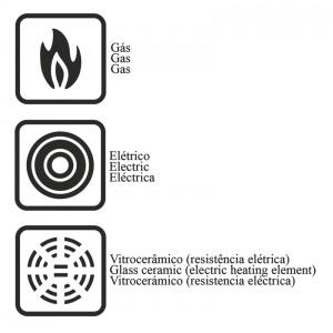 Jogo de panelas de alumínio com revestimento interno de antiaderente 4 peças - Preto - Turim