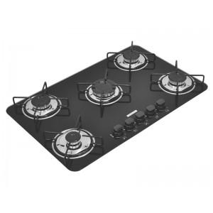Cooktop em vidro temperado com 5 queimadores - Brasil 5GG 70